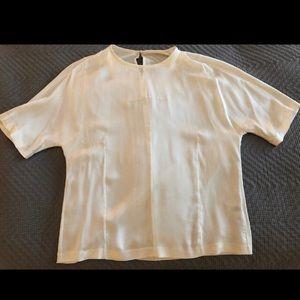 Vince silk T-shirt winter white small